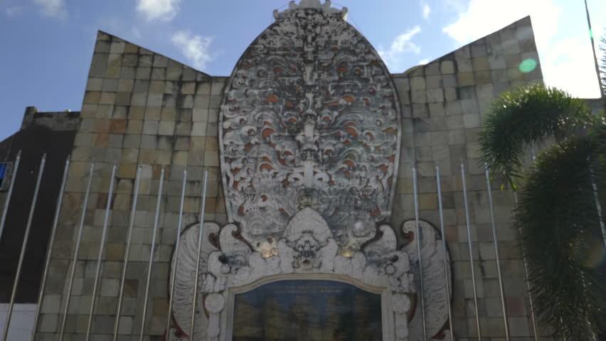 Kuta Indonesia June 17 2017 Close Bali Bombing Memorial Beach