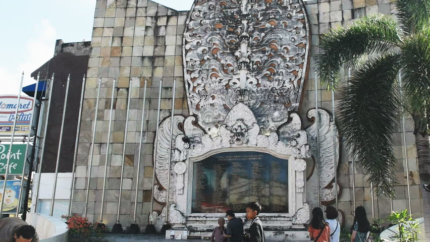 Kuta Indonesia June 17 2017 Close Bali Bombing Tilt Shot