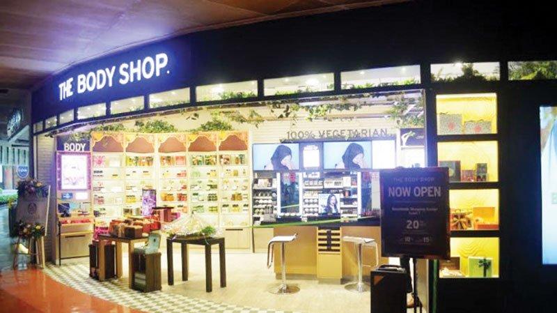 Body Shop Interactive Store Beachwalk Beat Globally Renowned Skincare Brand