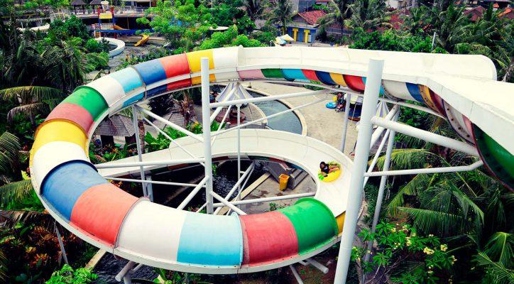Adult Rides Circus Waterpark Bali Speed Spiral Slider Water Park