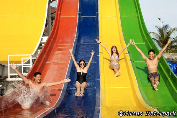 Circus Waterpark Bali Kuta Attractions Water Park Kab Badung