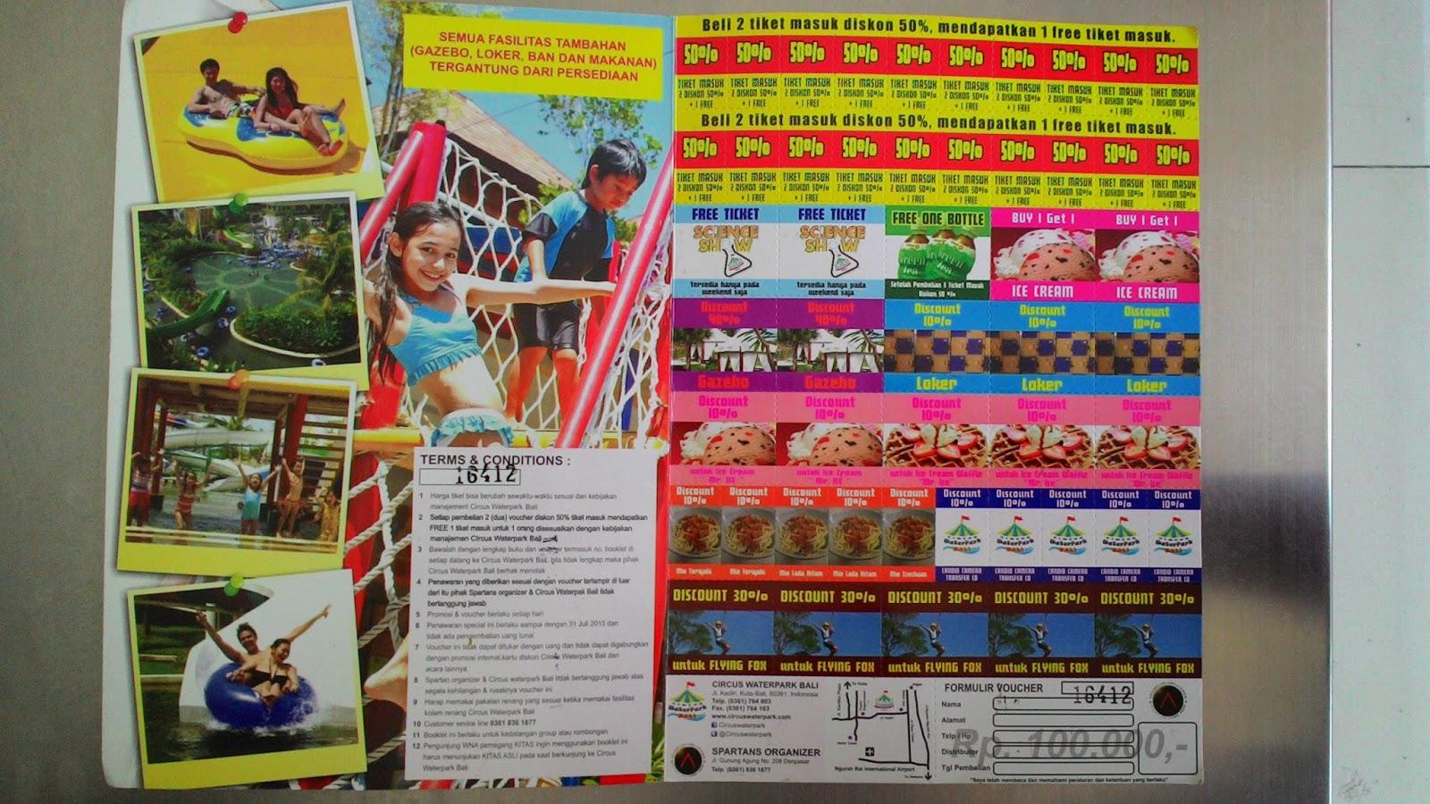 Lapak Online Sandy Voucher Circus Waterpark 2014 Tuban Kuta Penampakan
