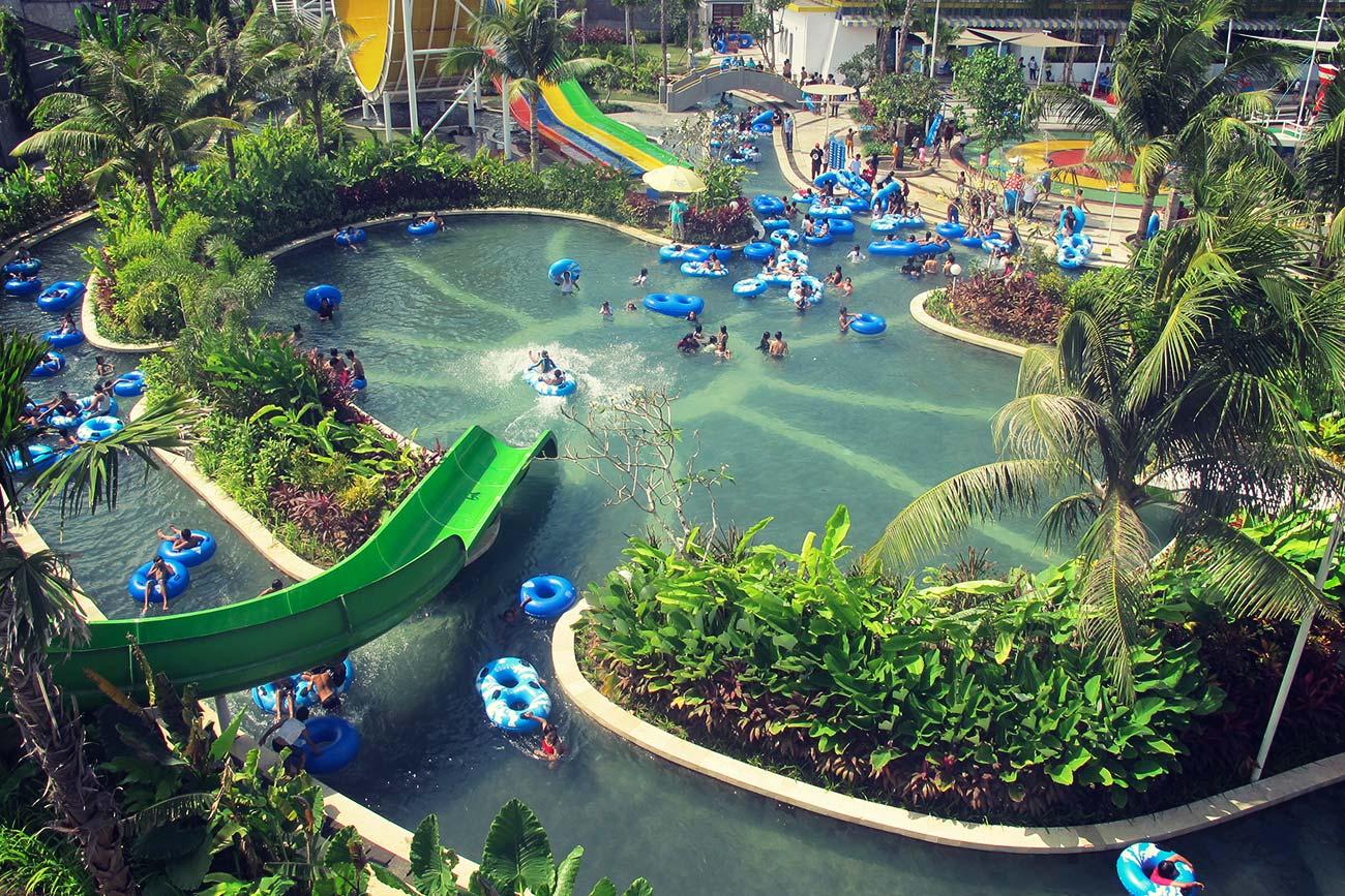 Pools Circus Waterpark Bali Main Pool Water Park Kab Badung