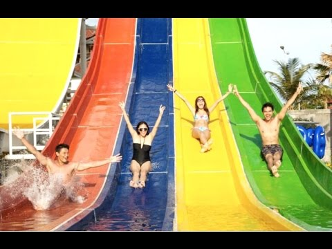 Super Fun Circus Waterpark Waterbom Tourism Destination Bali Indonesia Hd
