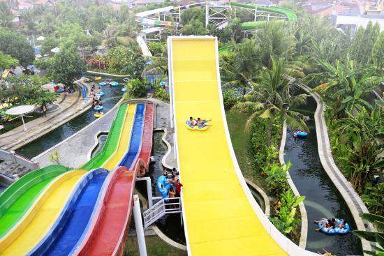 Wave Racing Speed Slides Picture Circus Waterpark Bali Kuta Water