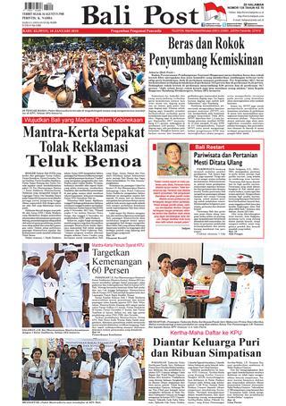 Edisi 10 Januari 2018 Balipost Paper Kmb Issuu Page 1