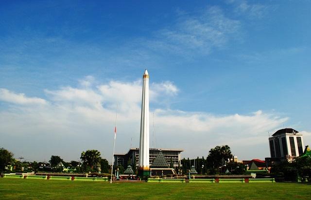 Monumen Bersejarah Indonesia Pasca Kemerdekaan Ulinulin Tugu Terletak Jalan Tembaan
