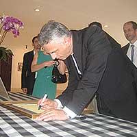 Events Didier Burkhalter President Swiss Visit Museum Pasifika Kab Badung