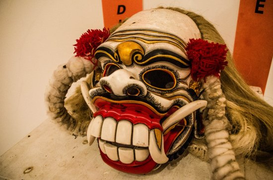 Mask Displayed Museum Picture Pasifika Nusa Kab Badung