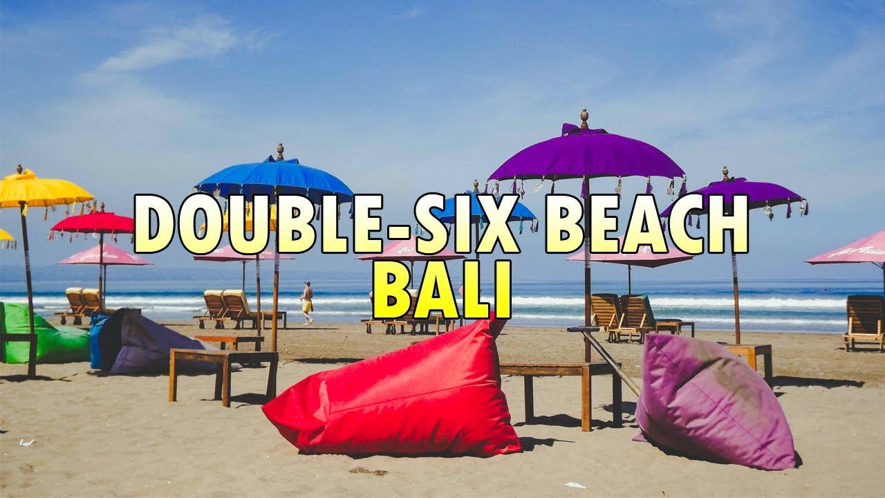 Double Beach Bali Colorful Spot Seminyak Area Youtube Pantai Kab