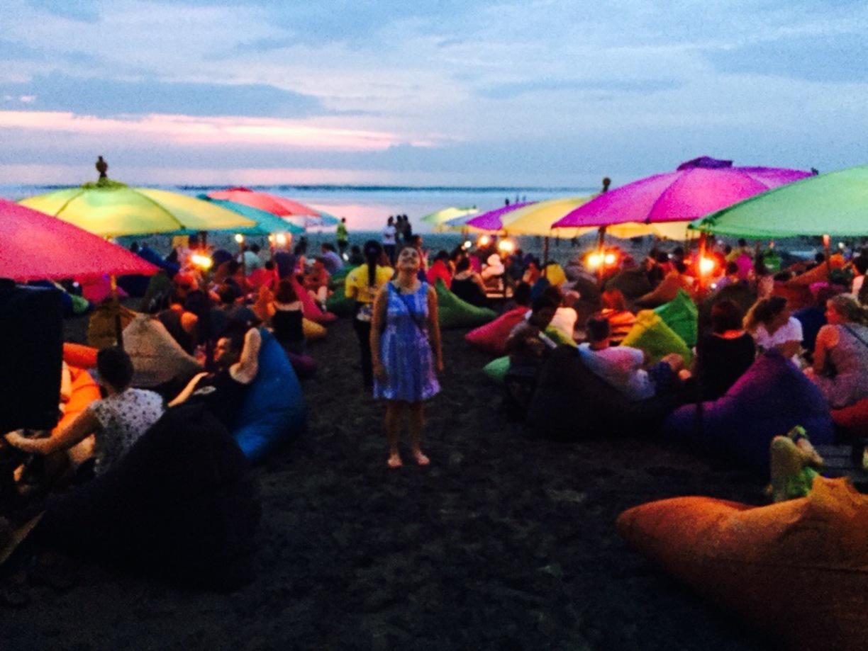 Lanai Beach Bar Grill Restaurant Double Kuta Bali Pantai Kab