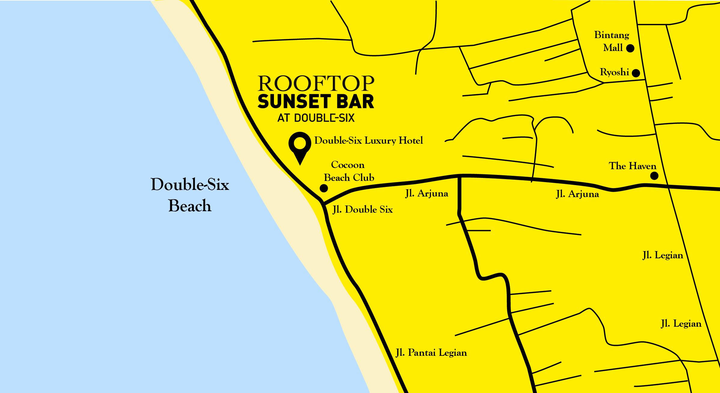 Rooftop Sunset Bar Double Pantai Kab Badung