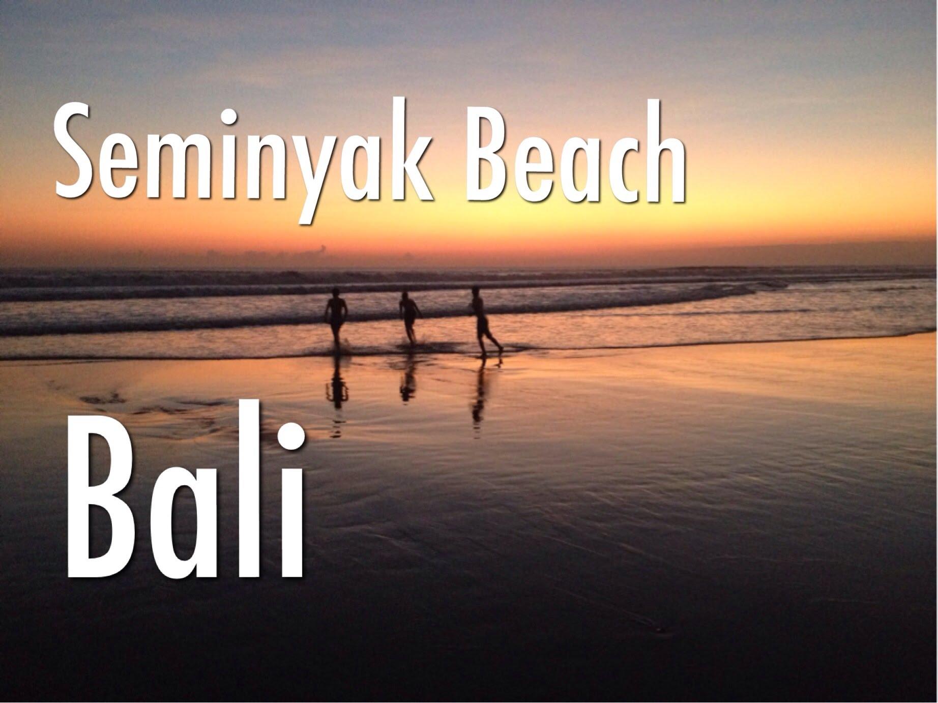 Seminyak Beach Bali Indonesia Double Pantai Youtube Kab Badung