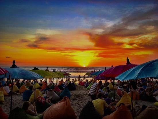 Sunset Drinks Double Beach Picture Pantai Kab Badung