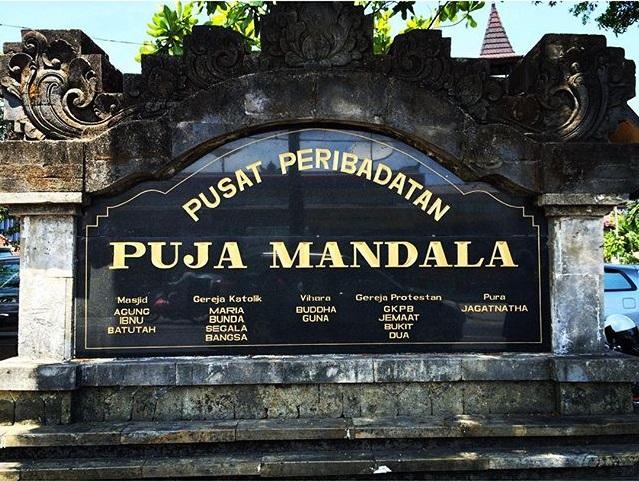 Bali Tak Tentang Pantai Belajar Toleransi Beragama Puja Mandala Kalah