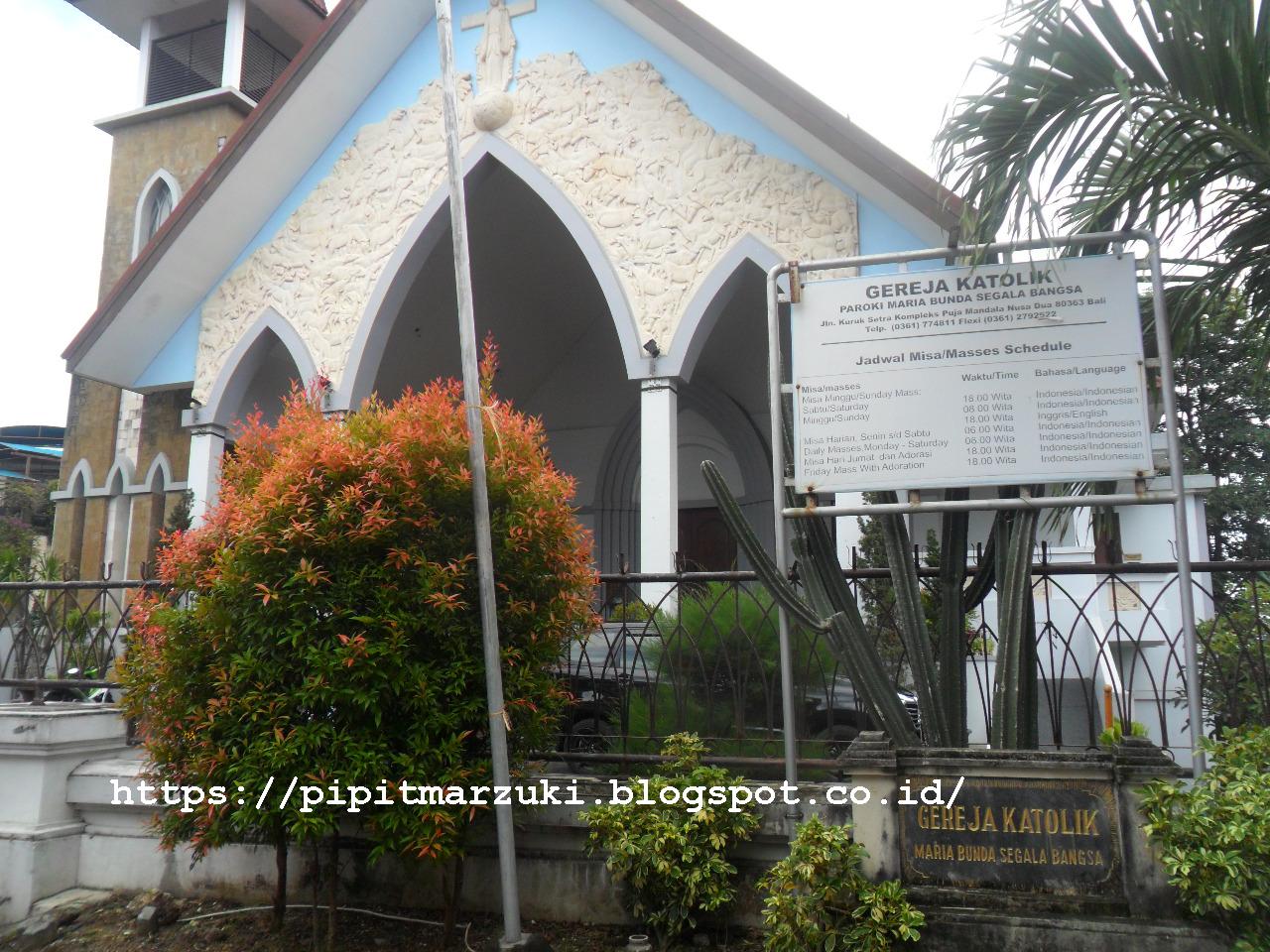 Pipit Marzuki Tanjung Benoa Nusa Dua Puja Mandala Berakhir Gereja