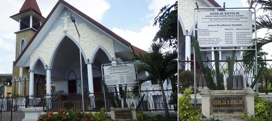 Sebelum Adzan Lonceng Gereja Berdentang Puja Mandala Bali Katolik Maria