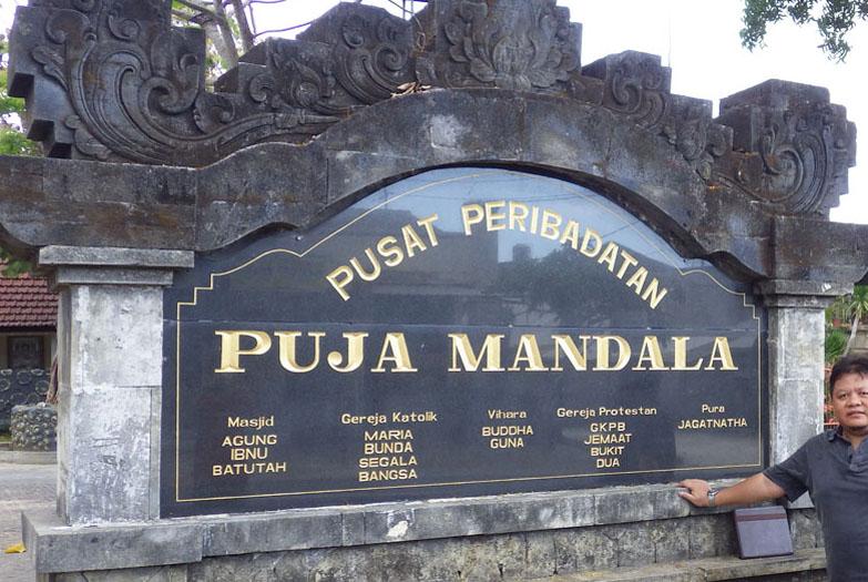 Sebelum Adzan Lonceng Gereja Berdentang Puja Mandala Bali Pusat Peribadatan