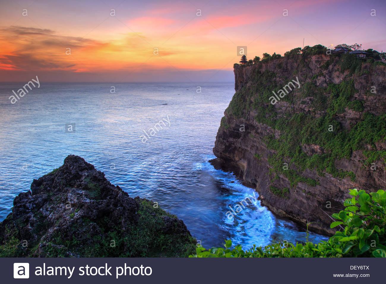Bali Bukit Peninsula Uluwatu Pura Luhur Temple Sunset Important Directional