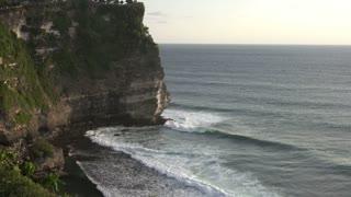 Landmarks Bali Pura Luhur Uluwatu Sunset Stock Video Indonesia Panoramic
