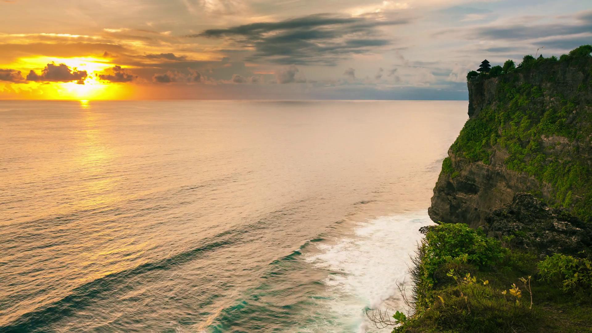 Popular Tourist Attractions Tropical Island Bali Landmarks 4k Pura Luhur