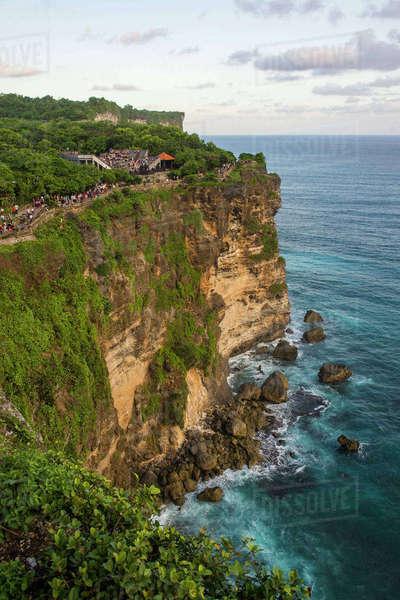 Sheer Cliffs Uluwatu Temple Pura Luhur Area Kab Badung