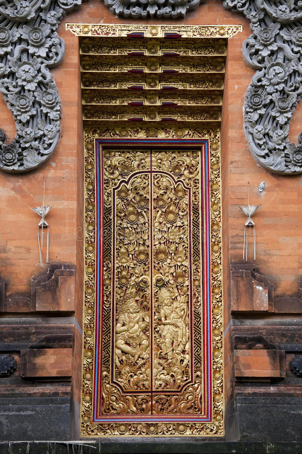 Temple Doors Pura Petitenget Bali Indonesia Stock Photo Image Download