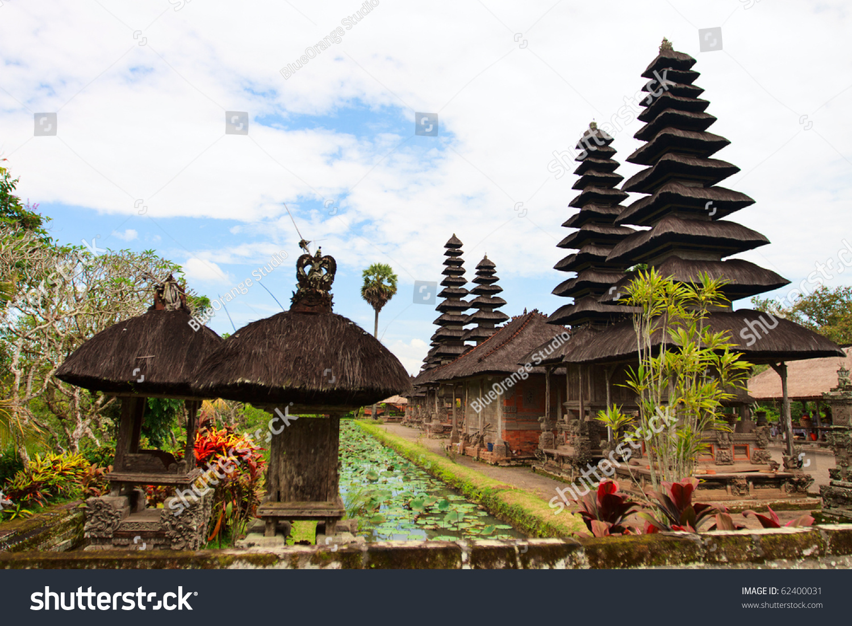Beautiful Pura Taman Ayun Bali Temple Stock Photo Royalty Free