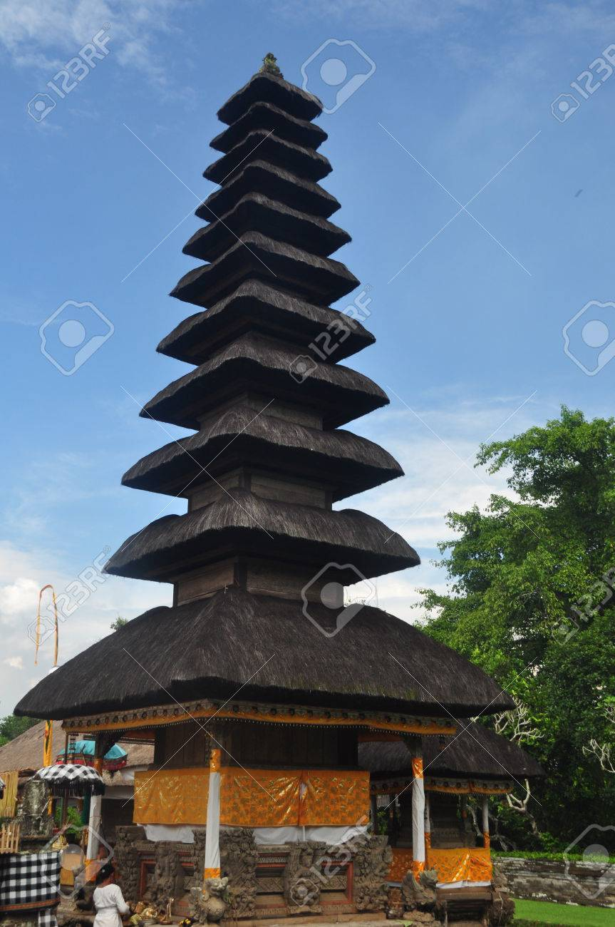Multi Tiered Pagoda Shrine Meru Pura Taman Ayun Royal Kab