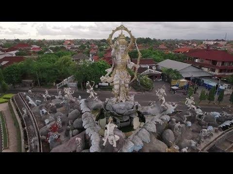 Drone Patung Dewa Ruci Simpang Siur Kuta Bali Youtube Kab