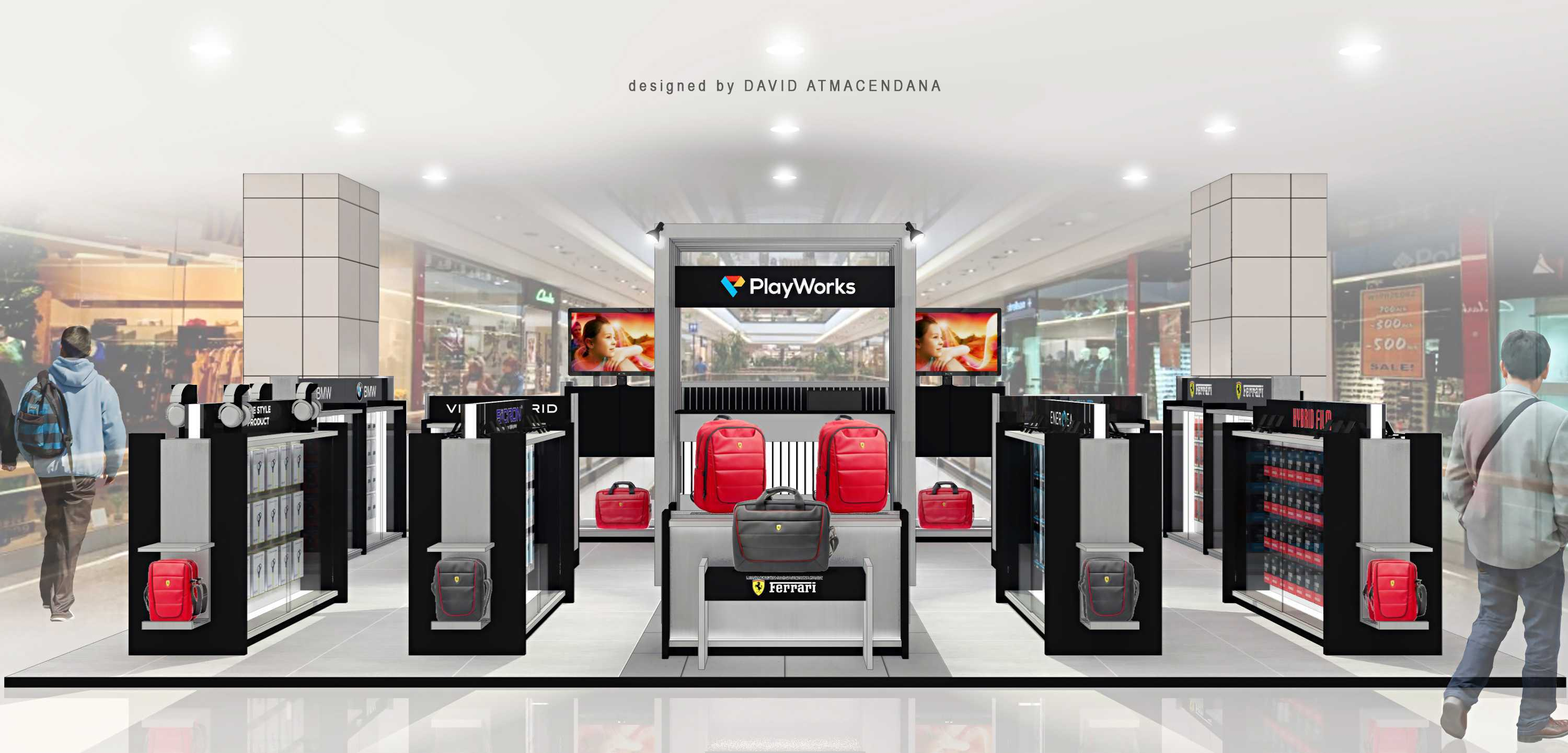 Photo Front View Rendering Playworks Store Mal Bali Galeria 3