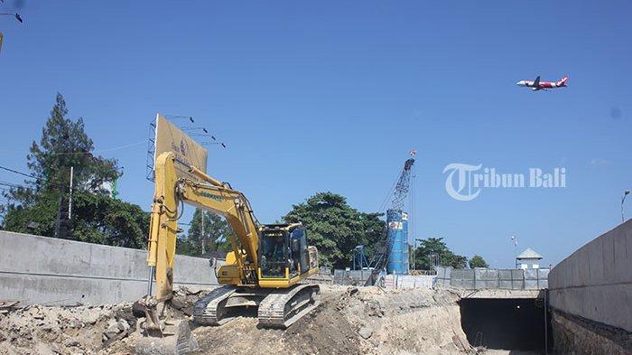Terowongan Proyek Underpass Simpang Tugu Ngurah Rai Tembus Dewa Ruci