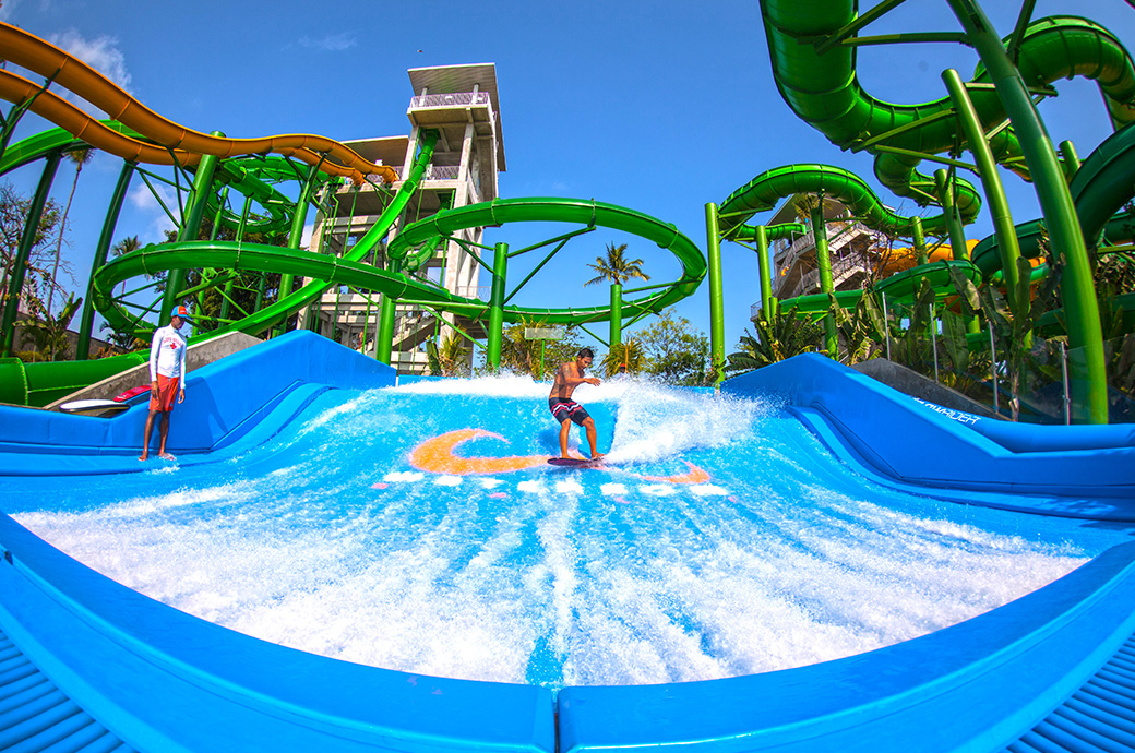 Waterbom Bali Indonesia Set Pace Day Fun Sun Relaxation Shade