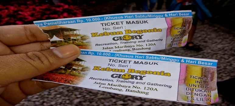 Harga Tiket Masuk Taman Begonia Lembang Update 2017 2018 Kab