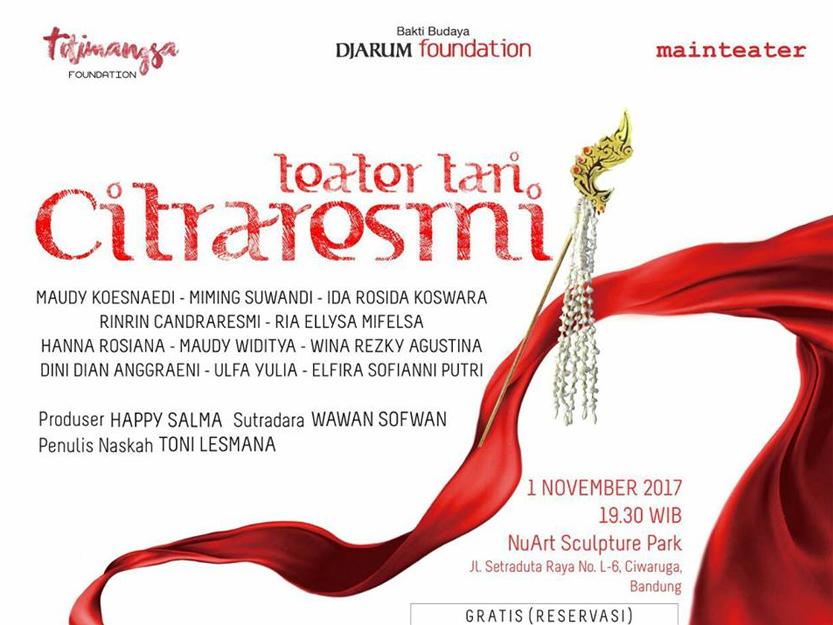 Teater Tari Citraresmi Digelar Nuart Sculpture Park Bandung Taman Kab