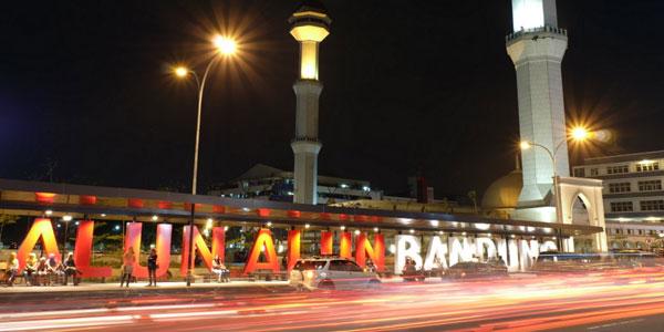 10 Foto Alun Bandung Alamat Angkot Malam Hari Pemandangan Mediatataruang