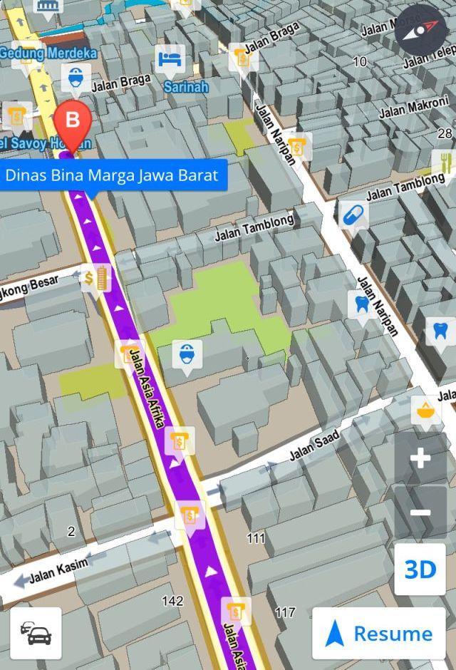 Rute Map Petunjuk Jalan Bojongsoang Asia Afrika Bandung Alun Kab