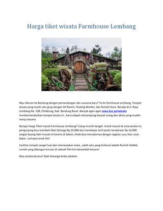 Harga Tiket Wisata Farmhouse Lembang Sewa Bus Pariwisata Page 1