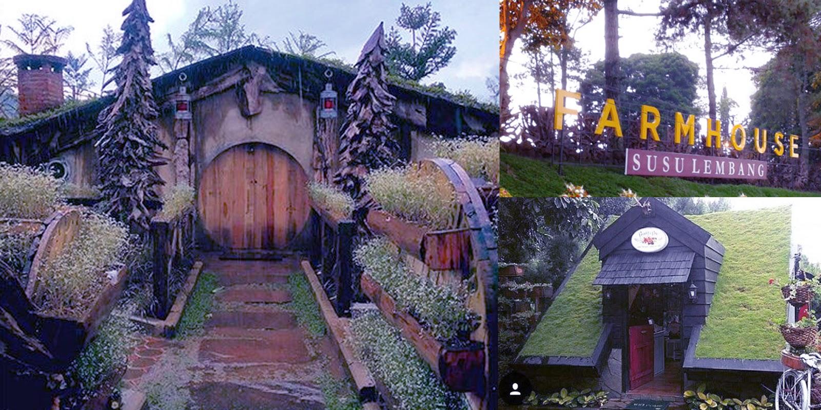 Rumah Hobbit Farmhouse Lokasi Wisata Favorit Lembang Farm House Cihideung