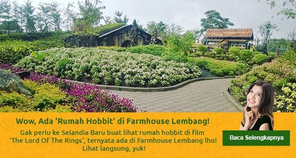 Wow Rumah Hobbit Farmhouse Lembang Kab Bandung