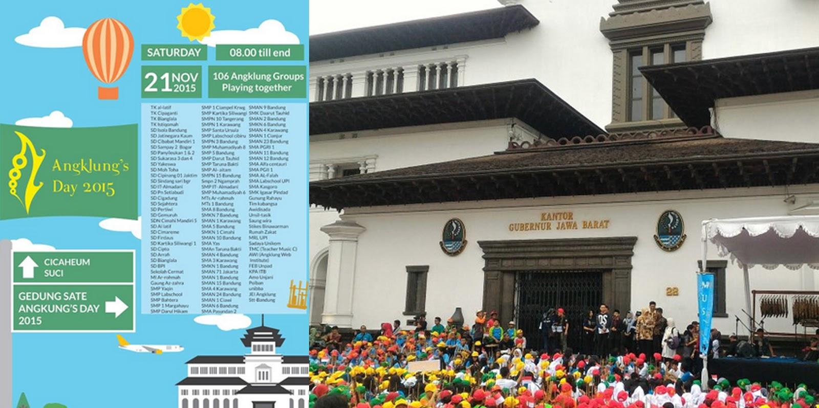 Kemeriahan Peringatan Hari Angklung Gedung Sate Wisata Bandung Day Gedungs