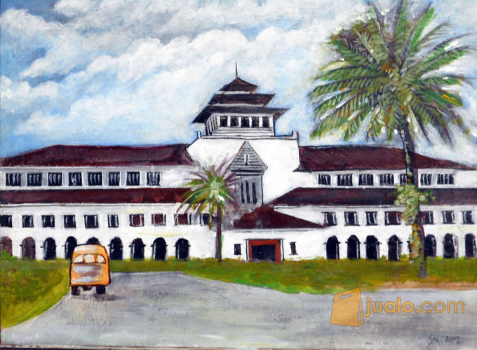 Lukisan Gedung Sate Bandung 1 Kab Sidoarjo Jualo Kebutuhan Rumah