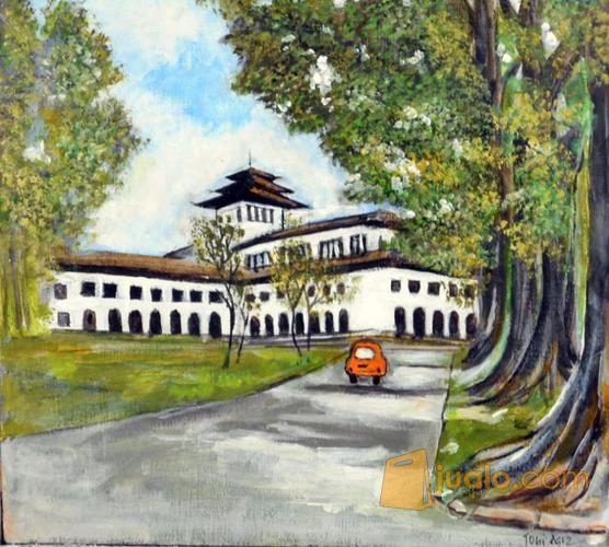 Lukisan Gedung Sate Bandung 2 Kab Sidoarjo Jualo Kebutuhan Rumah