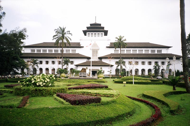 West Java Government Building Gedung Sate Pariwisata Indonesia Bandung Concrete