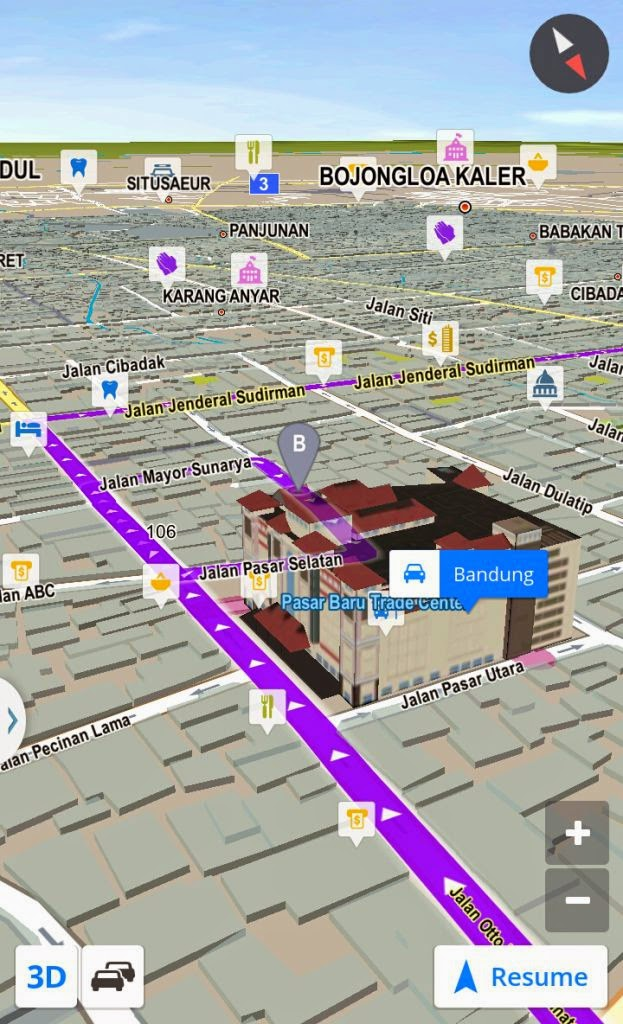 Map Petunjuk Jalan Braga Pasirkoja Bandung Kita Kab