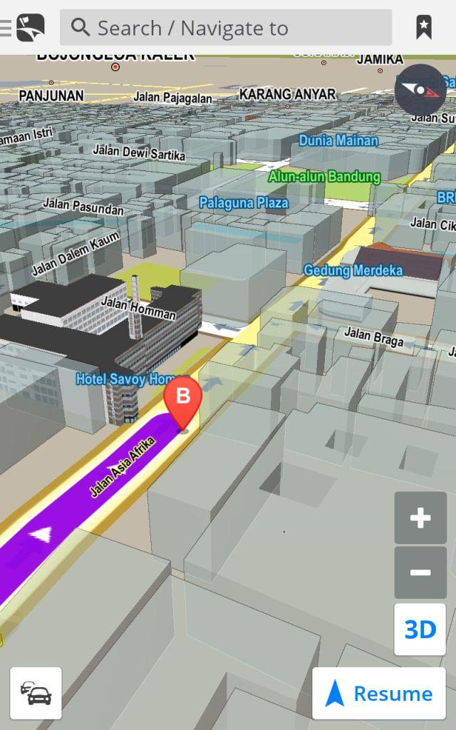 Rute Map Petunjuk Jalan Bojongsoang Asia Afrika Bandung Braga Kab