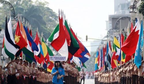 Bendera Negara Asia Afrika Berkibar Bandung 109 Museum Konferensi Kab