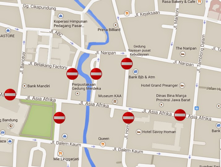 Inilah Rekayasa Lintas Sekitaran Lokasi Kegiatan Peringatan Peta Jalan Ditutup