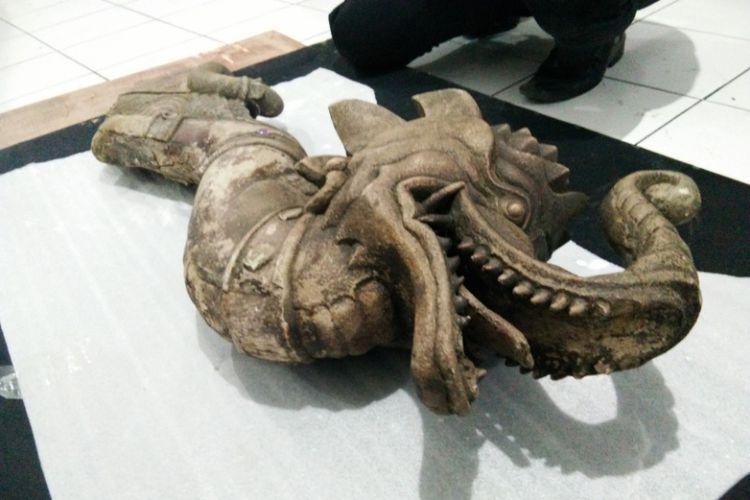 Museum Sri Baduga Kiriman Arca Berkepala Gajah Berbadan Bagian Kepala
