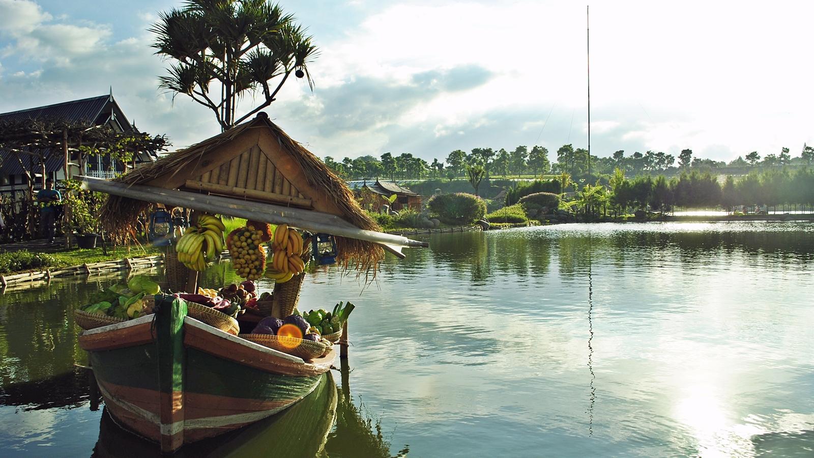 Floating Market Lembang Bandung Family Journey Pemandangan Umar Tangkuban Perahu